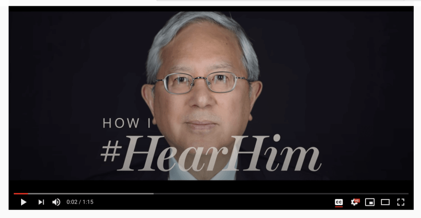 VIDEO: How I #HearHim: Elder Gerrit W. Gong and his testimony