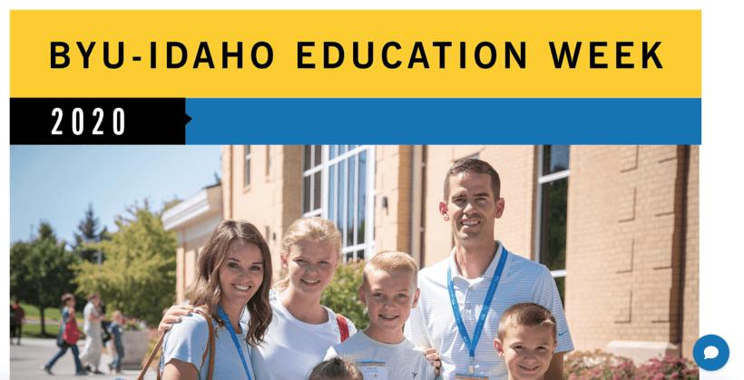 Free One Day Virtual BYU-Idaho Education Week conference