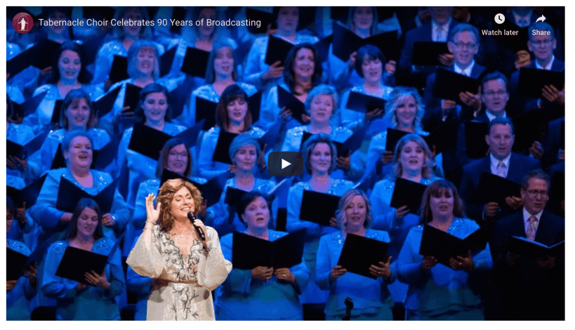 "Guest performers are joining The Tabernacle Choir and Orchestra at Temple Square in a special worldwide broadcast this weekend to commemorate 90 years of ""Music & the Spoken Word."" The pre-recorded program features interviews and performances with renowned guest artists who have previously appeared with the choir."