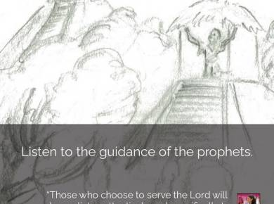 "#ComeFollowMe nugget Elder Neil L. Andersen shared this experience — ""Those who choose to serve the Lord will always listen attentively and specifically to the Prophet. …"