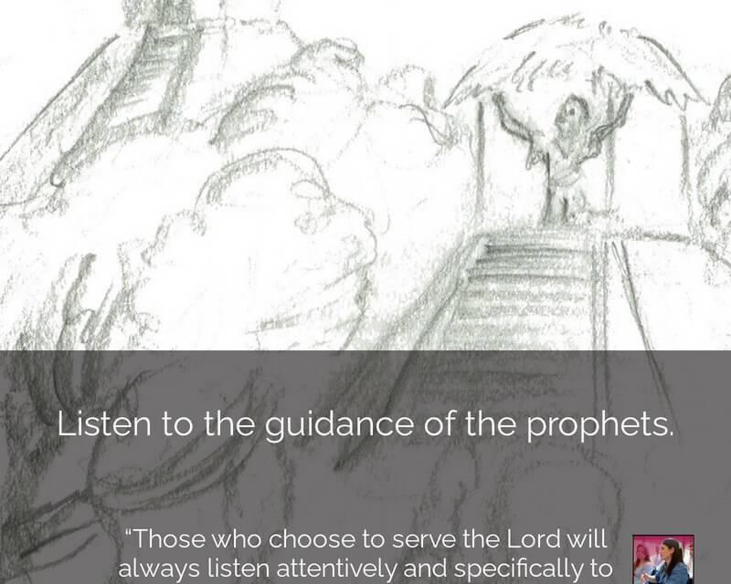 """#ComeFollowMenugget  Elder Neil L. Andersen shared this experience — """"Those who choose to serve the Lord will always listen attentively and specifically to the Prophet. …"""