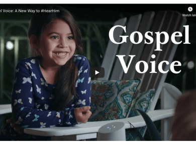 'Gospel Voice' Brings Church Content to Amazon and Google Smart Speakers https://newsroom.churchofjesuschrist.org/article/gospel-voice-alexa-google  A few simple words directed at your Amazon or Google smart speaker will, beginning July 22, 2020, bring scripture, music, general conference talks and other important content from The Church of Jesus Christ of Latter-day Saints into your home.