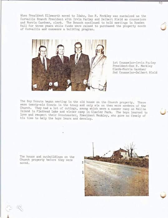 Corvallis ward history 2 ce