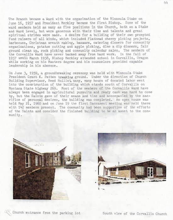 Corvallis ward history 3 ce