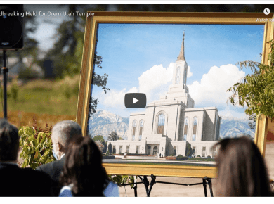 A small group of Latter-day Saints gathered in the north-central Utah community of Orem on Saturday, September 5, 2020, for the groundbreaking of the Orem Utah Temple. The crowd size was limited due to local COVID-19 restrictions. The three-story, 70,000 square foot structure is one of 24 temples in operation, under construction or announced in Utah.