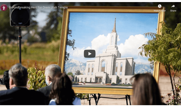 VIDEO: Groundbreaking Held for Orem Utah Temple