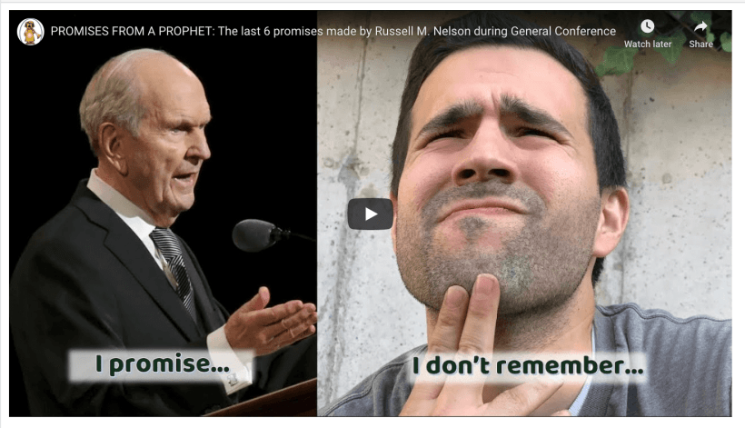 PROMISES FROM A PROPHET: The last 6 promises made by Russell M. Nelson during General Conference (Latter-day Divers) #GeneralConference