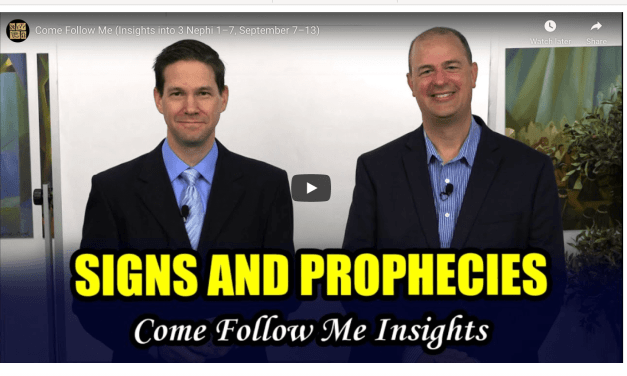 VIDEO: Book of Mormon Central Come Follow Me (Insights into 3 Nephi 1–7, September 7–13) #ComeFollowMe with Taylor and Tyler