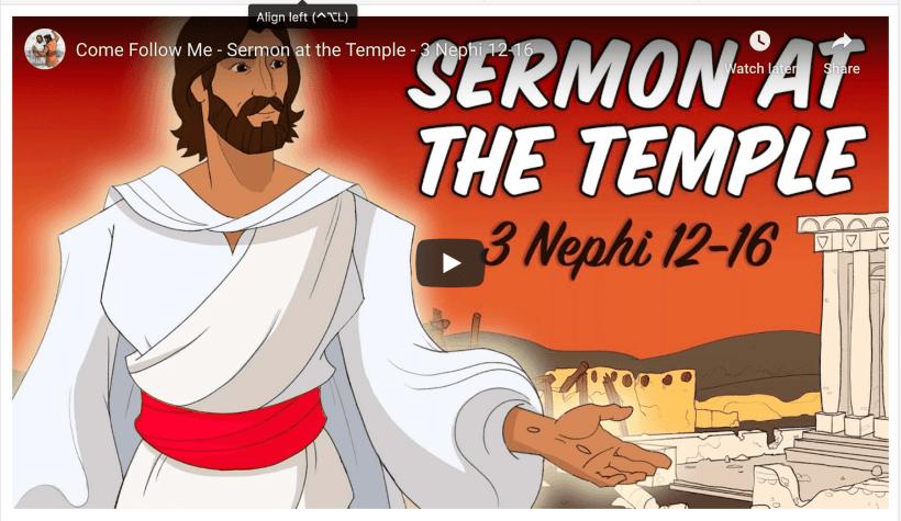 Come Follow Me - Sermon at the Temple - 3 Nephi 12-16