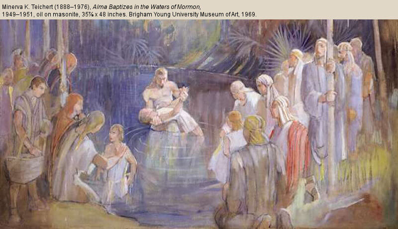 "Moroni 1–6: ""To Keep Them in the Right Way"" Alma baptizing waters of mormon (1)"