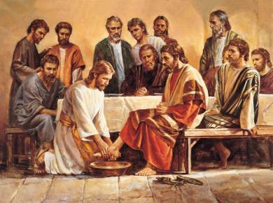 Spotlight: Famine of Meekness Jesus washing apostles feet