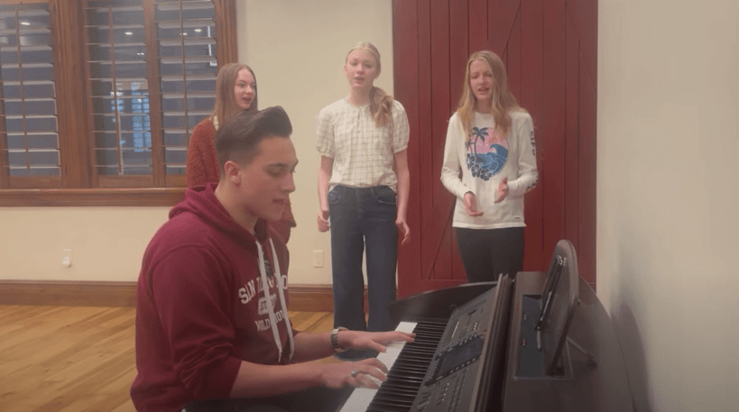 """VIDEO: 🎤 Three Sisters Heard a Missionary Playing """"You Say"""" on the Piano and Decided to Start Singing Along 🎤"""