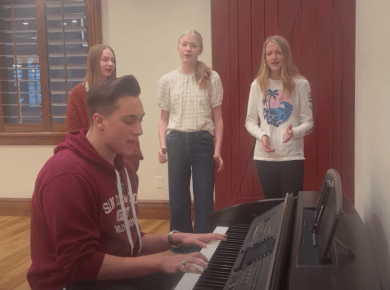 "VIDEO: 🎤 Three Sisters Heard a Missionary Playing ""You Say"" on the Piano and Decided to Start Singing Along 🎤"