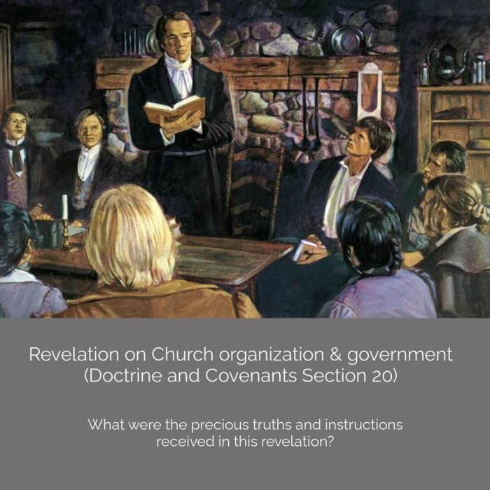 "a ""revelation on Church organization and government."""