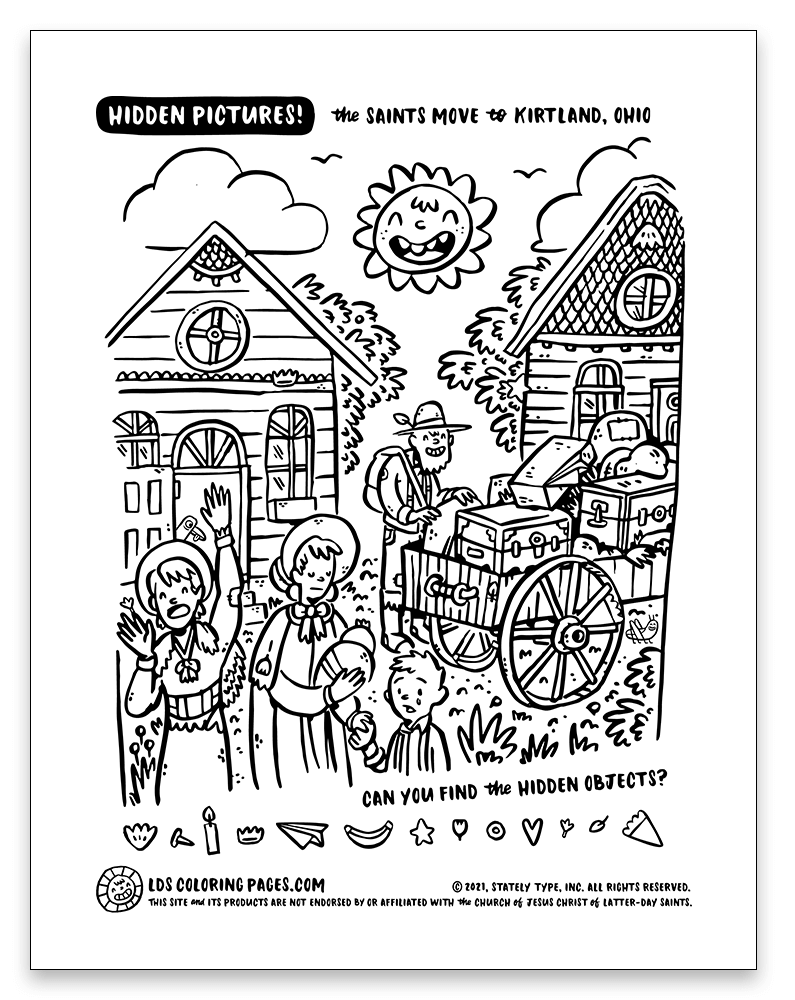 """LDS Coloring Pages COME, FOLLOW ME DOCTRINE AND COVENANTS LESSON 16: APRIL 12–18 """"IF YE ARE NOT ONE YE ARE NOT MINE"""" DOCTRINE AND COVENANTS 37–40"""