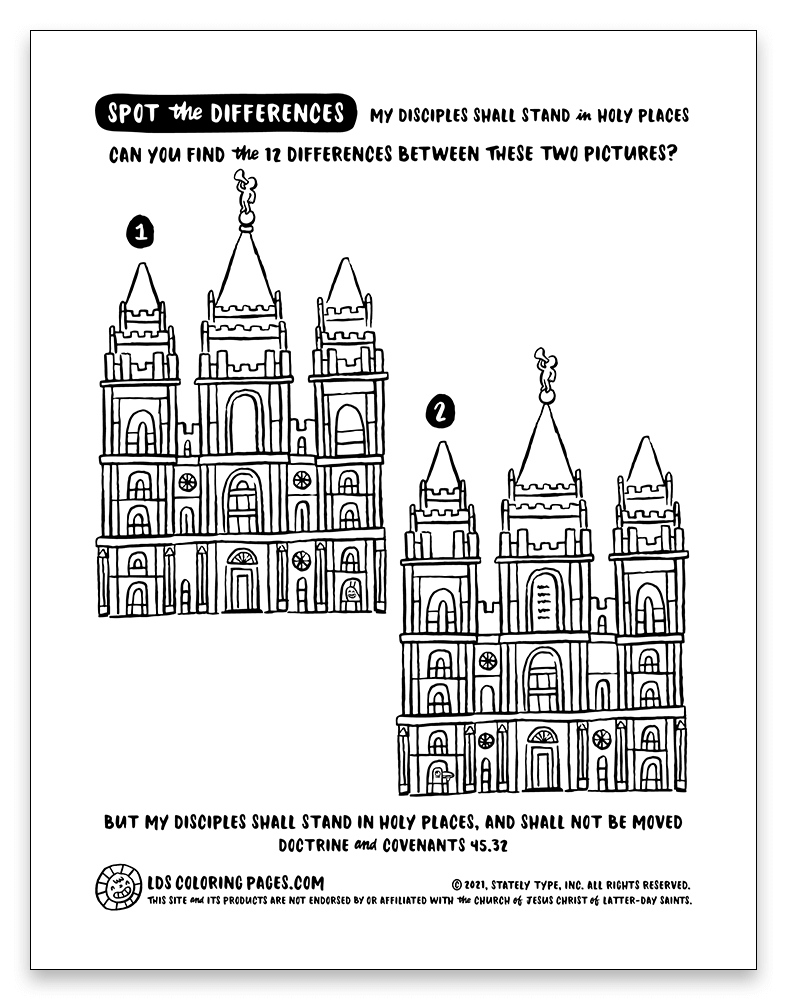 "FREE download: LDS Coloring Pages Come, Follow Me Doctrine and Covenants Lesson 18: April 26–May 2 ""The Promises … Shall Be Fulfilled"" Doctrine and Covenants 45"