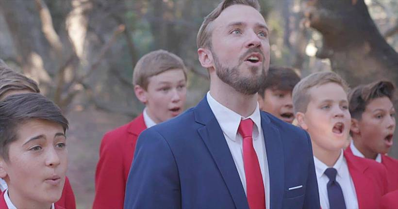 VIDEO: How Great Thou Art | Peter Hollens feat. The All American Boys Chorus
