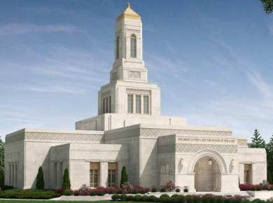 Helena temple exterior rendering approved VIDEO: Helena, Montana Temple Groundbreaking At a Glance