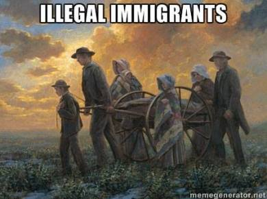 """On this day, 22 July 1847, the first group of Mormon refugees illegally arrived in what is now Salt Lake City, then a part of the province of Alta California, Mexico. These immigrants, fleeing the United States for Mexico, did not plan to first stop by the nearest immigration officials' office (in what is now Texas). These illegal immigrants turned the desert into many settlements that would become thriving communities in modern Utah, Nevada, and California. Modern Latter-day Saints revere these pioneer forebears for their courage and hard work in the face of very difficult circumstances (fleeing their established homes for the unknown). May we also recognize modern immigrants and refugees for their determination and courage, yes even those who """"illegally"""" cross an imaginary line, in search of a better life for their families. #pioneerday #loveoneanother #goddoesntcareaboutborders"""