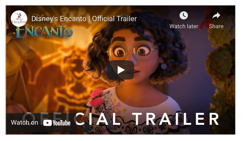 """Walt Disney Animation Studios' upcoming feature film """"Encanto"""" tells the tale of the Madrigals, an extraordinary family who live in a wondrous, charmed place called an Encanto. Each child has been blessed with a magic gift unique to them—each child except Mirabel. But when the family's home is threatened, Mirabel may be their only hope."""