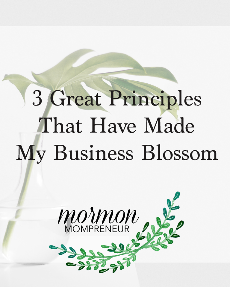 3 Great Principles That Have Made my Business Blossom