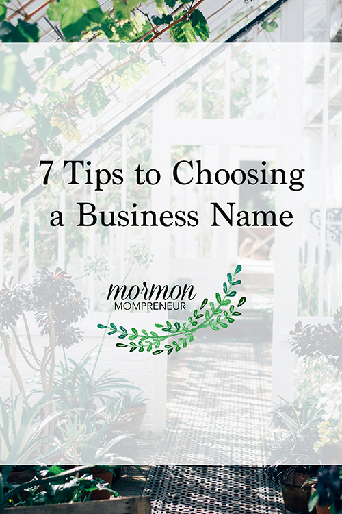 7 tips to naming your business
