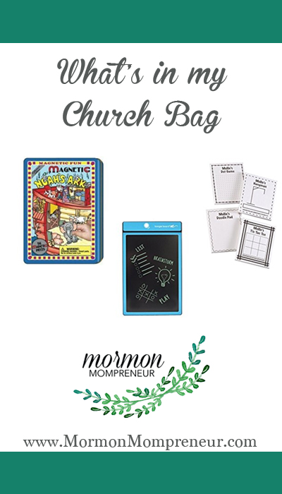 How do I get to church on time Mormon Mompreneur. What is in my church bag.