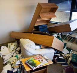 When my shelf broke, it made quite a mess.