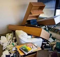 When my shelf broke, it made quite a mess.