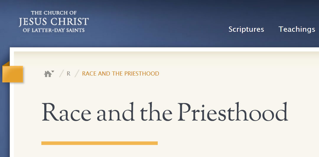 race and the priesthood essay