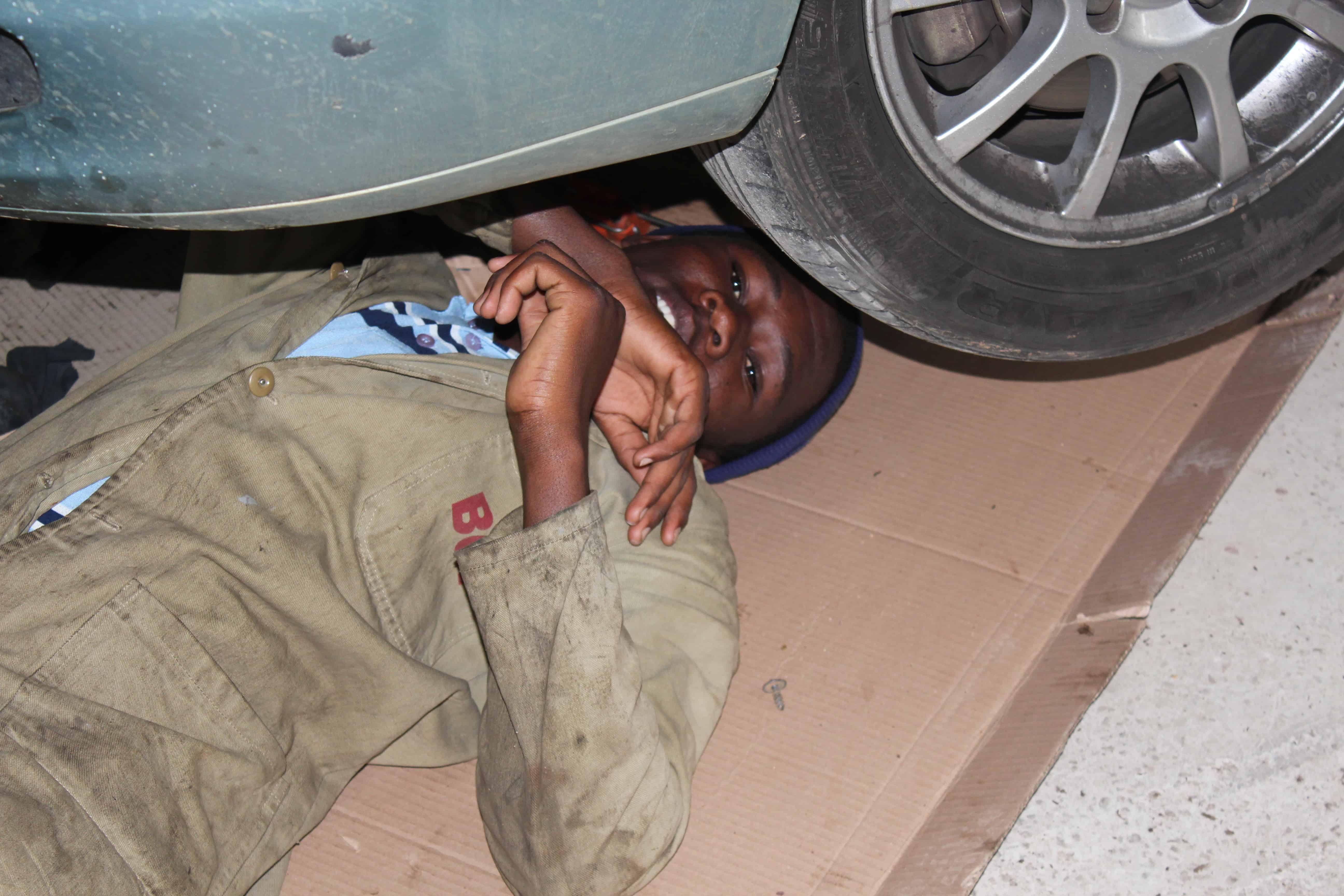 Botswana - et autoværksted...