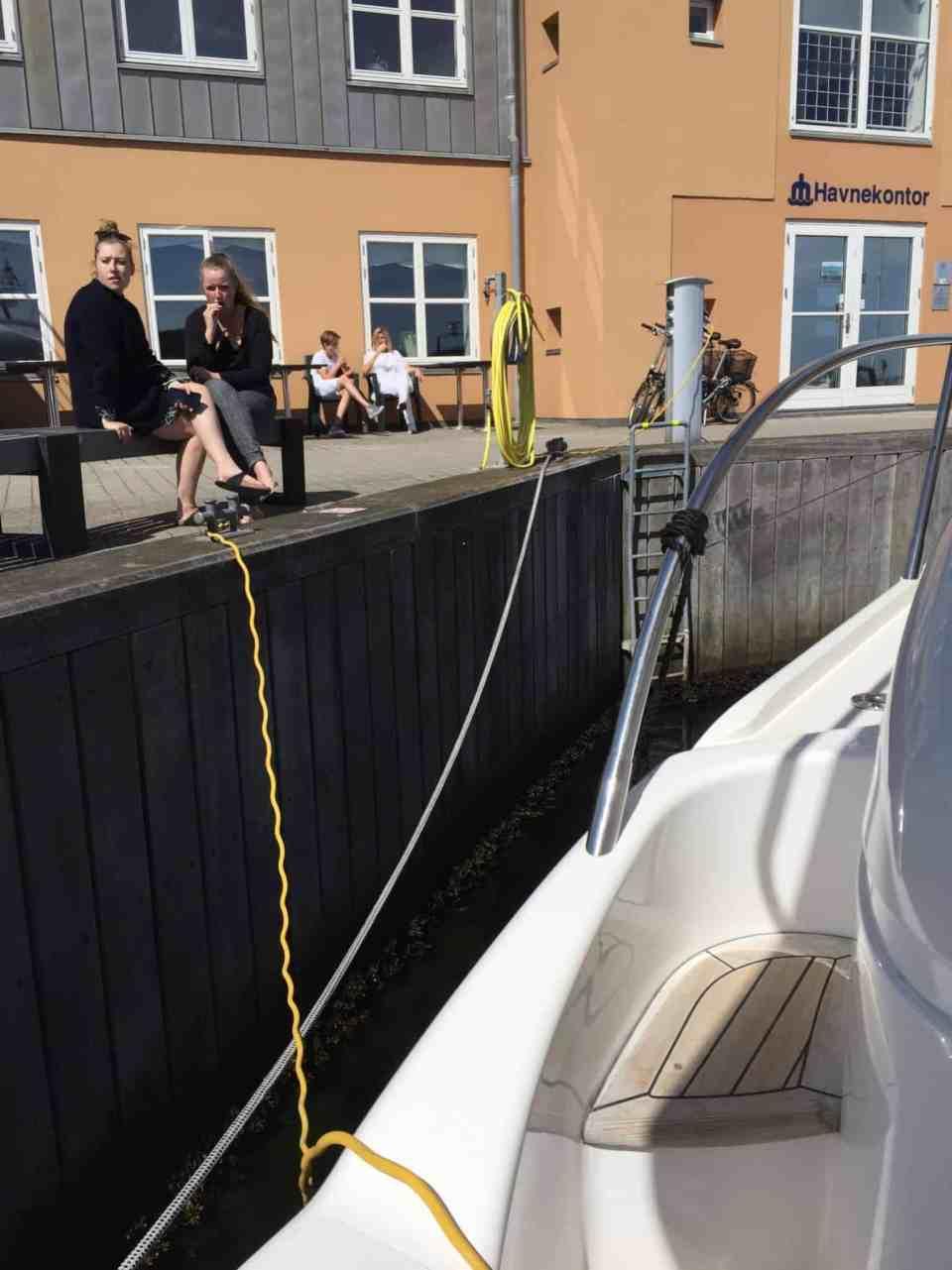 Turen gik til Marselisborg Lystbådehavn og den gik godt...