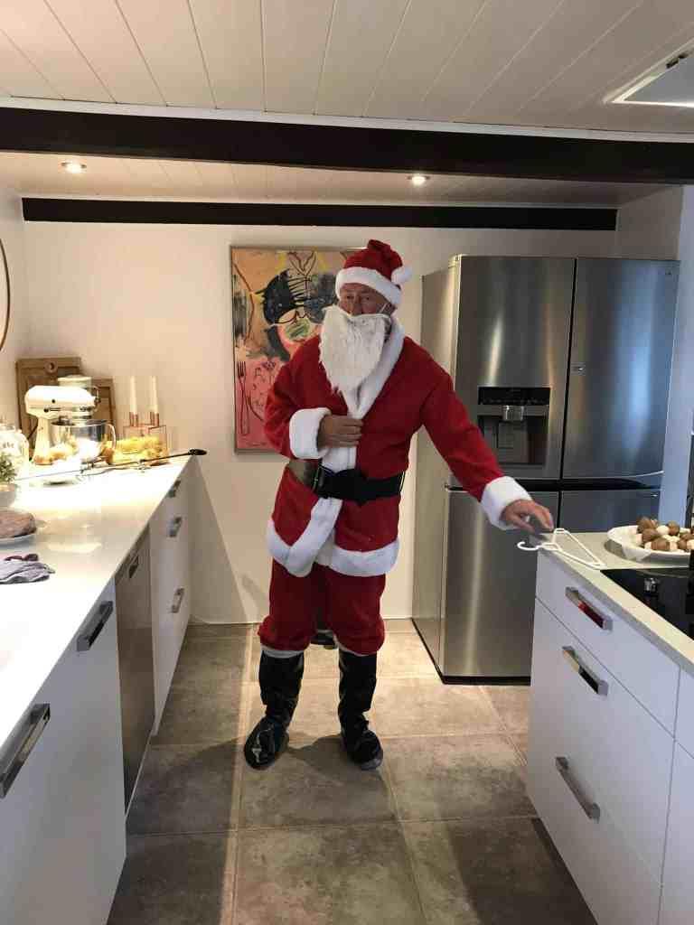 Vores jul var helt fantastisk - julemanden overnattede hos os!