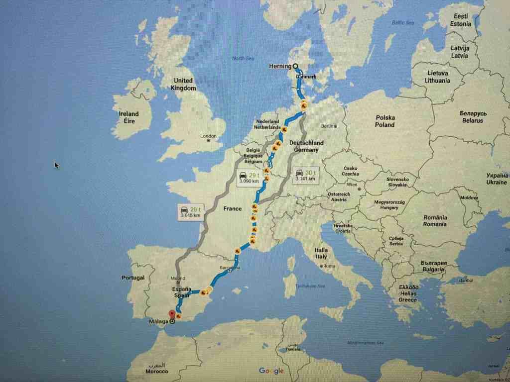 Road-trip til Malaga - vi er snart på vej...