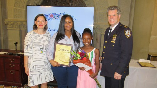 School Safety Agent Tamara Jenkins is one of the DOE's 2018 Life Savers Award Recipients