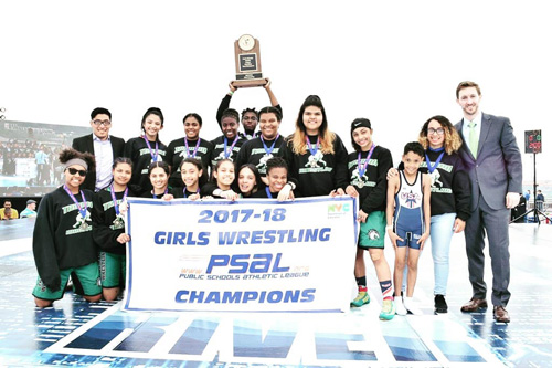 Harry S. Truman H.S. Captured Its Second Straight PSAL Girls Wrestling Championship in 2017–18