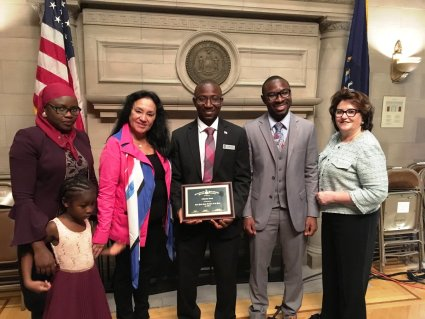 2019 NYS Teacher of the Year, Alhassan Susso, Stands with His Family