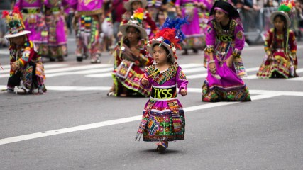 Even the Little Ones Make it Out to Celebrate the NYC Hispanic Day Parade