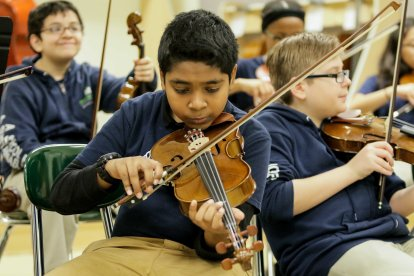 Middle School Student with Violin