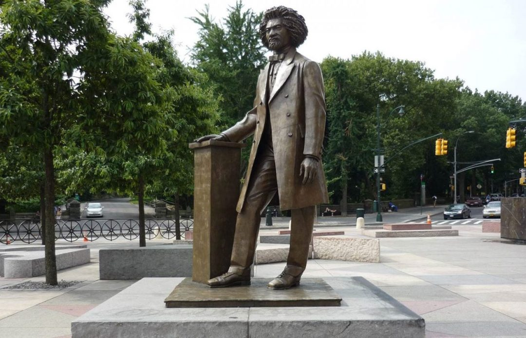 Statue of Frederick Douglass near Central Park
