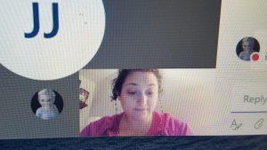 Screenshot of Linda Fisher's Teams Meeting