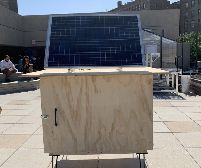 A Solar battery on the roof of the TAPCo School in the Bronx