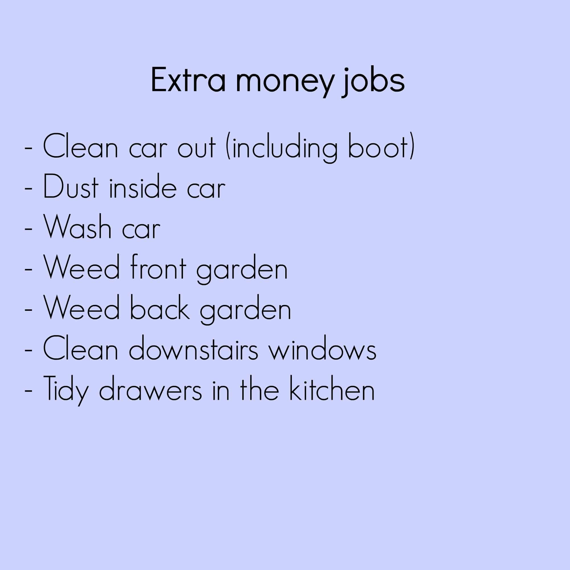 Extra money jobs ~ Tips for getting kids to help more around the house