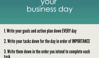 4 Tips to manage your time and be more productive in your business day
