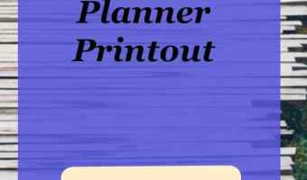 Blog post weekly planner printout
