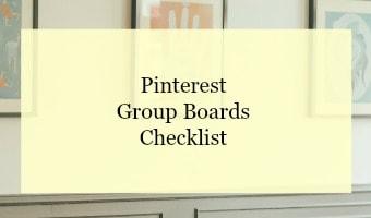 Pinterest group boards checklist