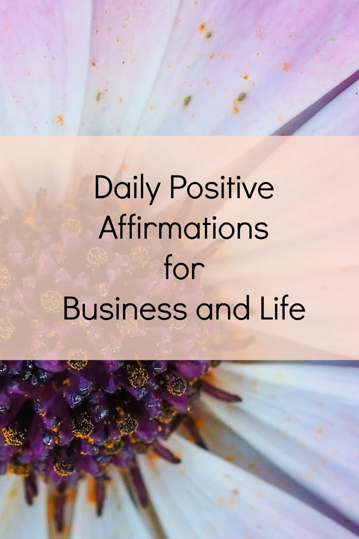 Daily positive affirmations for business and life