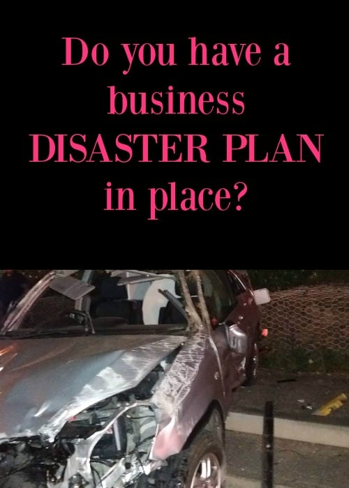 I know this is something we'd all rather not think about but do you have a disaster plan in place in your business. It's worth thinking about.