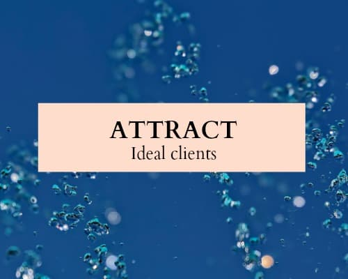 Use the law of attraction to attract your ideal clients.