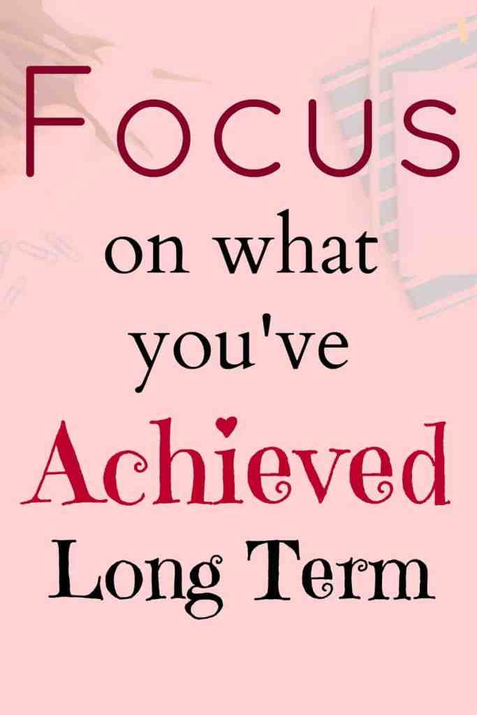 Focus on what you've achieved long term, especially when you're having an off day.
